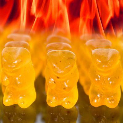 Adventskalender füllen - Teuflisch scharfe Gummibärchen