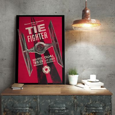 Poster - Star Wars Metallposter - Tie Fighter