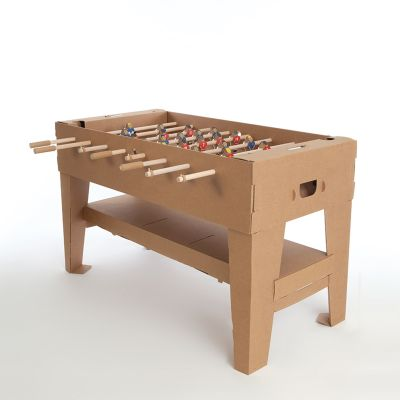 Geschenk zum Abschluss - Tischfußball-Set aus Karton