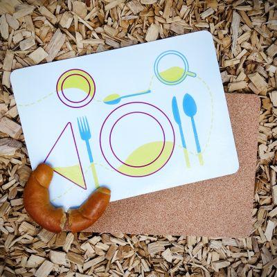 Witzige Geschenke - Tischset Schablone 4er Set