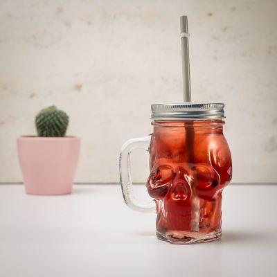 Halloween - Totenkopf Trinkglas
