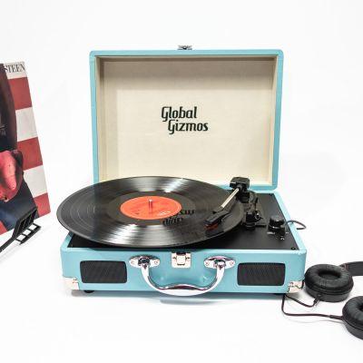 Geburtstagsgeschenke für Männer - Retro Koffer Plattenspieler