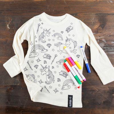Fashion - Einhorn T-Shirt zum Selbst-Bemalen