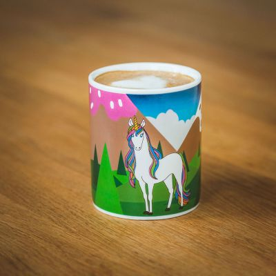Geschenk für Freundin - Wärmeempfindliche Einhorn Tasse