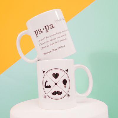 Geschenke für Männer - Papa - Personalisierbare Tasse