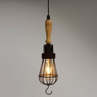 Deko - Vintage Arbeitsleuchte mit LED