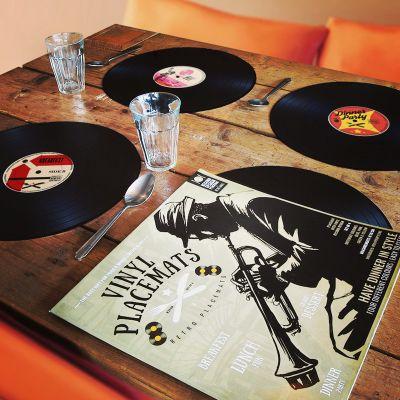 Weihnachtsgeschenke für Männer - Vinyl Tischsets 4er Set