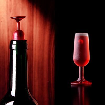 An der Bar - Weinglas Flaschenverschluss 2er-Set