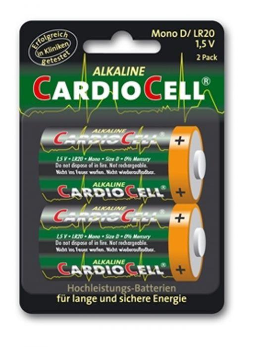 Cardiocell Batterie Mono D-LR20 2er Blister