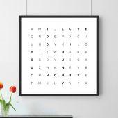 Wörtersuche - personalisierbares Poster