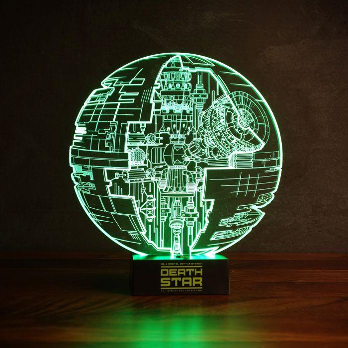 star wars todesstern leuchte mit 3d effekt - Star Wars Todesstern Lampe
