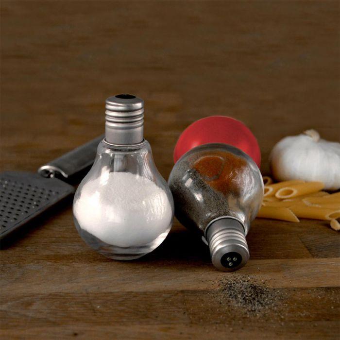 Glühbirnen Salz- und Pfefferstreuer-Set