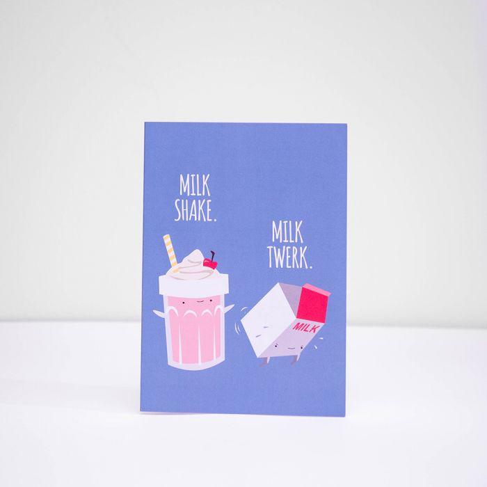 Grußkarte Milk Shake Milk Twerk