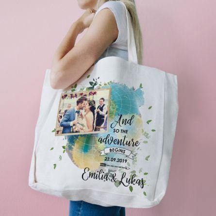Personalisierbare Tasche zur Hochzeit