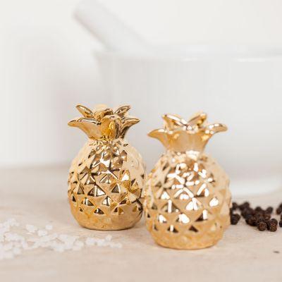 Gold Ananas Salz- und Pfefferstreuer