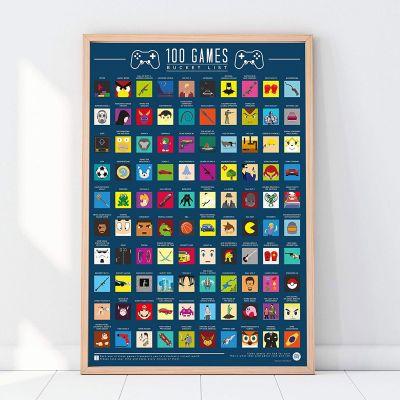 Deko - Rubbel-Poster 100 Spiele