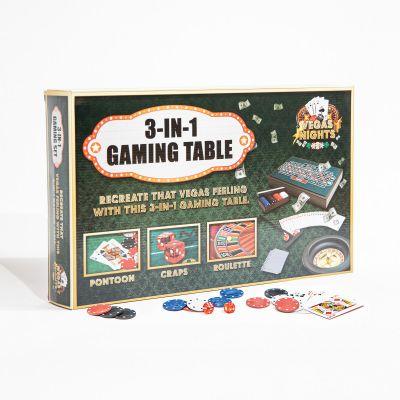 Spiel & Spass - Vegas Nights 3 in 1 Mini Spieltisch