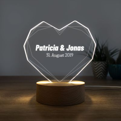 Geschenke für Freundin - LED-Leuchte mit Herz
