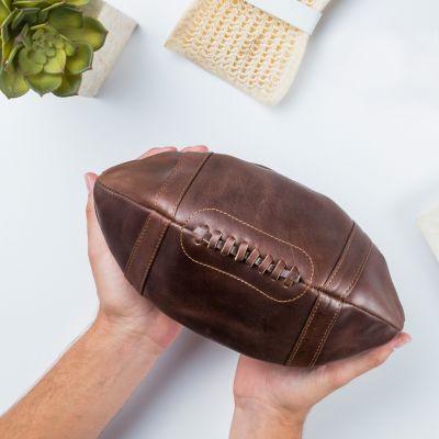 Weihnachtsgeschenke für Männer - Leder-Kulturbeutel American Football