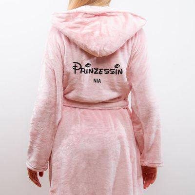 Geschenke für Schwester - Personalisierbarer Bademantel Prinzessin