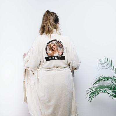 Geschenke für Frauen - Personalisierbarer Bademantel mit Foto & Text
