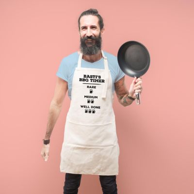 Vatertagsgeschenke - Personalisierbare Küchenschürze für Grillmeister