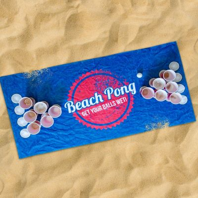 Spiel & Spass - Beach Pong Handtuch
