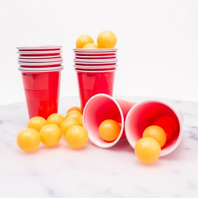 Partyspiele - Beer Pong mit 24 Bechern und Bällen