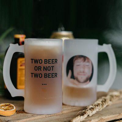 Personalisierte Tassen und Gläser - Bierkrug mit Foto und Text