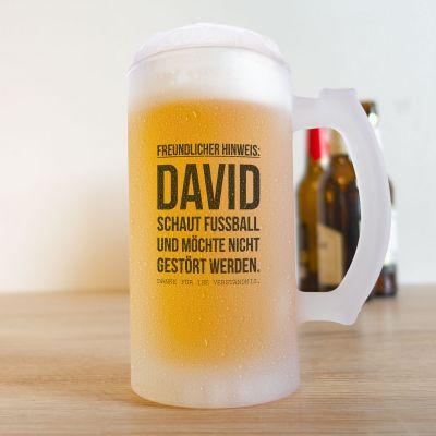 Geschenk für Freund - Bierkrug für Fußball-Fans