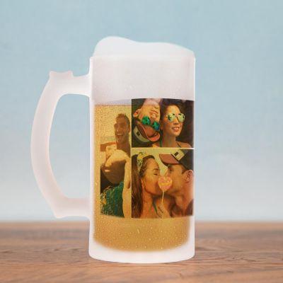 Personalisierte Tassen und Gläser - Bierkrug mit 5 Bildern