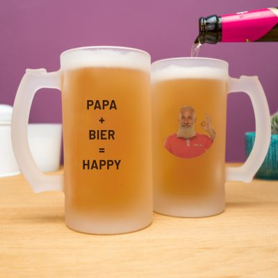 Geburtstagsgeschenke für Papa - Personalisierbarer Bierkrug mit Foto und Text