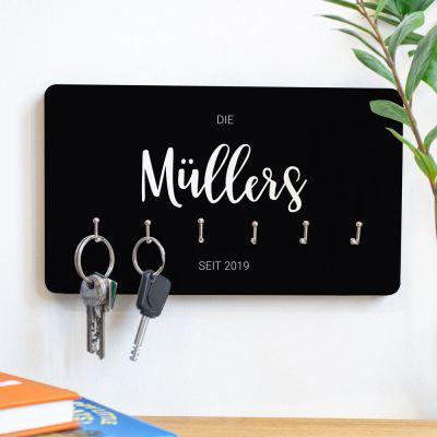 Weihnachtsgeschenke für Eltern - Personalisierbares Schlüsselbrett mit Namen