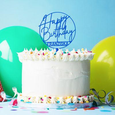 Geburtstagsgeschenke - Personalisierbarer Cake Topper zum Geburtstag
