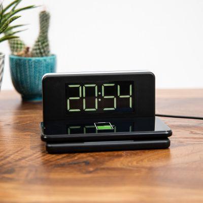 Gadgets - Kabelloses Ladegerät mit Uhr und Nachtlicht