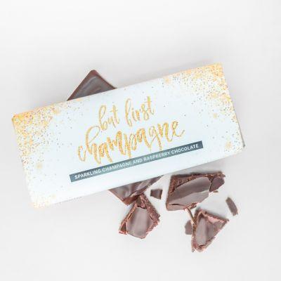 Abschiedsgeschenk - Champagner-Himbeer Schokolade