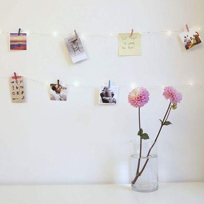 Geschenk zum Einzug - Mini-Wäscheklammern LED-Kette