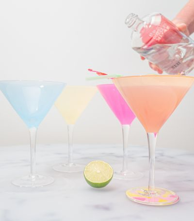 Gartenparty Deko - Cocktail-Gläser im 4er-Set