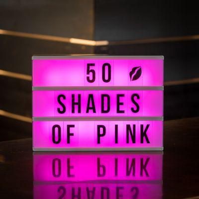 Spaß im Büro - Tischleuchte Kino Leuchtreklame mit Farbwechsel