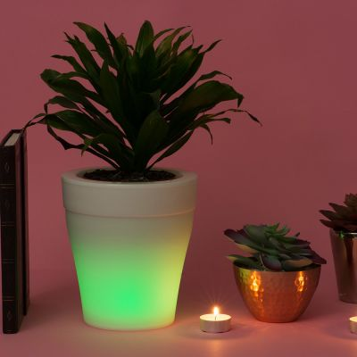 Home Gadgets - Beleuchteter Blumentopf mit Farbwechsel