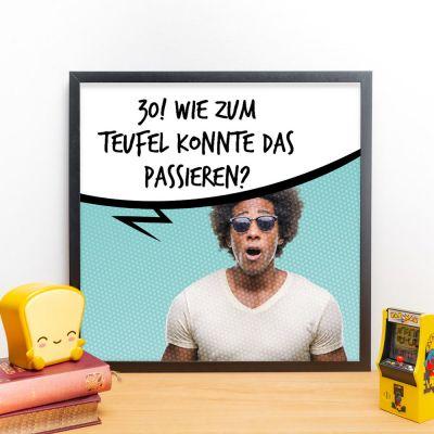 Poster - Personalisierbares Poster mit Foto und Sprechblase