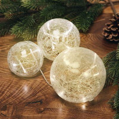 Wohnen - LED-Leuchtenset aus Bruchglas