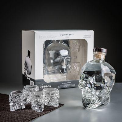 Halloween - Crystal Head Wodka Geschenke-Set mit Gläsern