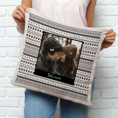 Geschenk für Paare - Personalisierbarer Kissenbezug mit Foto und Text