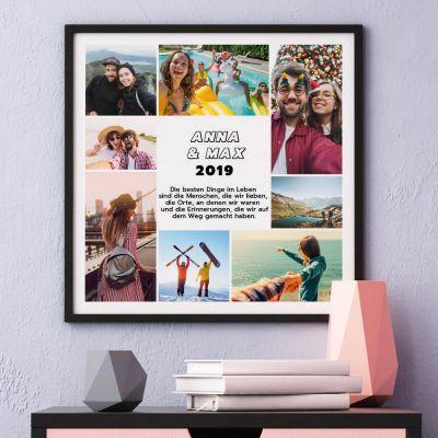 Hochzeitstag Geschenk - Poster mit 8 Bildern und Text