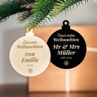 Geschenke mit Gravur - Weihnachtsschmuck mit Text
