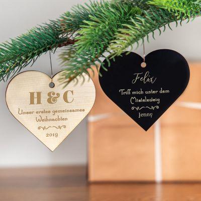 Weihnachtsdeko - Weihnachtsschmuck mit Herz