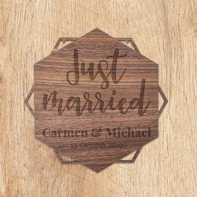 Hochzeitstag Geschenk - Personalisierbares Türschild mit Text