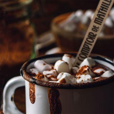 Süßigkeiten - Heiße Schokolade am Löffel