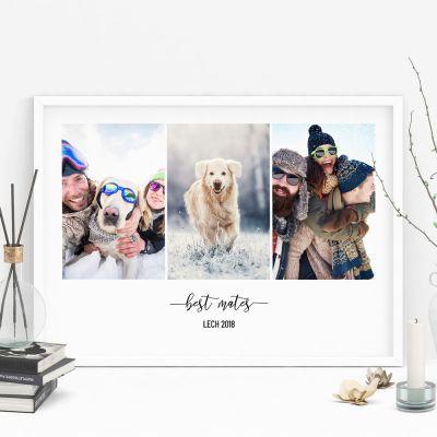 Geschenke mit Namen - Poster mit 3 Bildern und Text